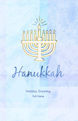 Hanukkah5 Greeting Card (55x85)